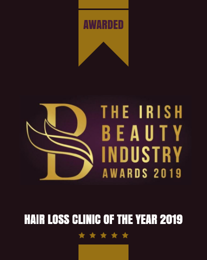 Hair loss Clinic of the year 2019 Banner
